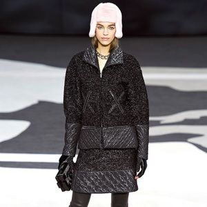 Chanel 2013 runway Metallic Zip up jacket coat 40